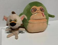 2017 Funko Galactic Plushies Star Wars Jabba The Hutt And Salacious Crumb Plush