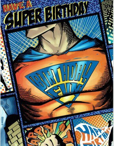 SUPER HERO-Carte d/'anniversaire ~ âge 4,5 6 ou ouvert aucun âge à choisir