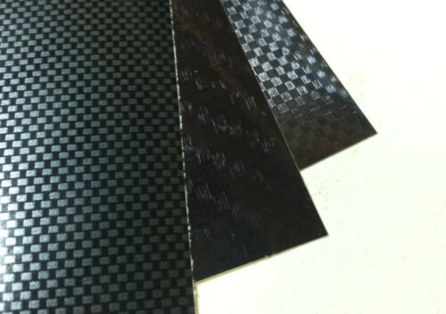 One of Each Style 4 Sheets 8 x 12 inch Carbon Fiber Sign Vinyl Sample Sheets
