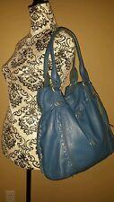 Lucky brand Slate Blue Hobo Leather Handbag