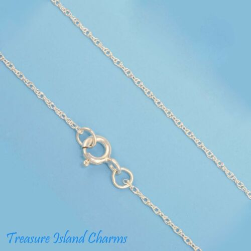 """18/"""" 1mm Thin Rope .925 Solid Sterling Silver Neck Chain Necklace MADE IN ITALY"""