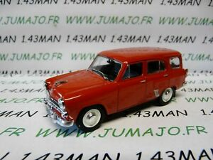 PL122-VOITURE-1-43-IXO-IST-deagostini-POLOGNE-MOSKWITCH-423N-break-rouge