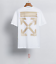 OFF WHITE men's Alphabet arrow print oversized loose Unisex short sleeves Tee