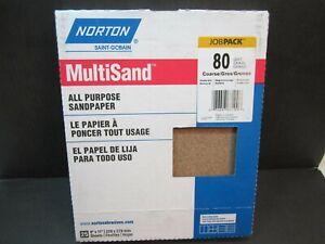 25 Pack Norton 01832 9 x 11 All-Purpose 100 Grit