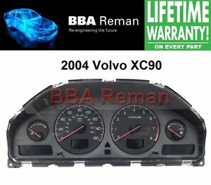 2004 xc90 volvo 04 instrument cluster dash dashboard lcd. Black Bedroom Furniture Sets. Home Design Ideas
