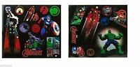 Disney Store Marvel Avengers Super Hero 19pc Wall Decal Set Boys Bedroom Gift