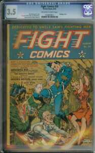 FIGHT COMICS #10 CGC 3.5 OW/WH PAGES // GOLDEN AGE BONDAGE COVER 1942