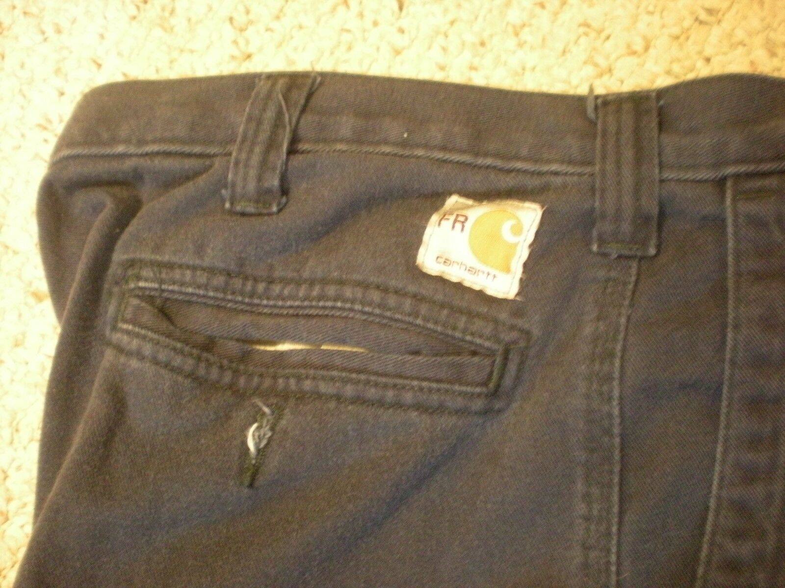 3 Carhartt FR Navy bluee Pants (371-20) Relaxed Fit 44X32 (Good Condition)  D427