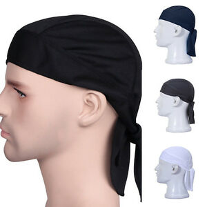 Image is loading Fashion-Mens-Solid-Biker-Lined-SKULL-CAP-Motorcycle- 46661085bbc