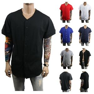 Men-Baseball-Jersey-T-Shirt-Plain-Sports-Raglan-Fashion-Hipster-amp-Kids-COTTON