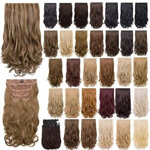 New Women s High Quality Synthetic Hair Curly 5 Pieces Extensions  0731dd9e65