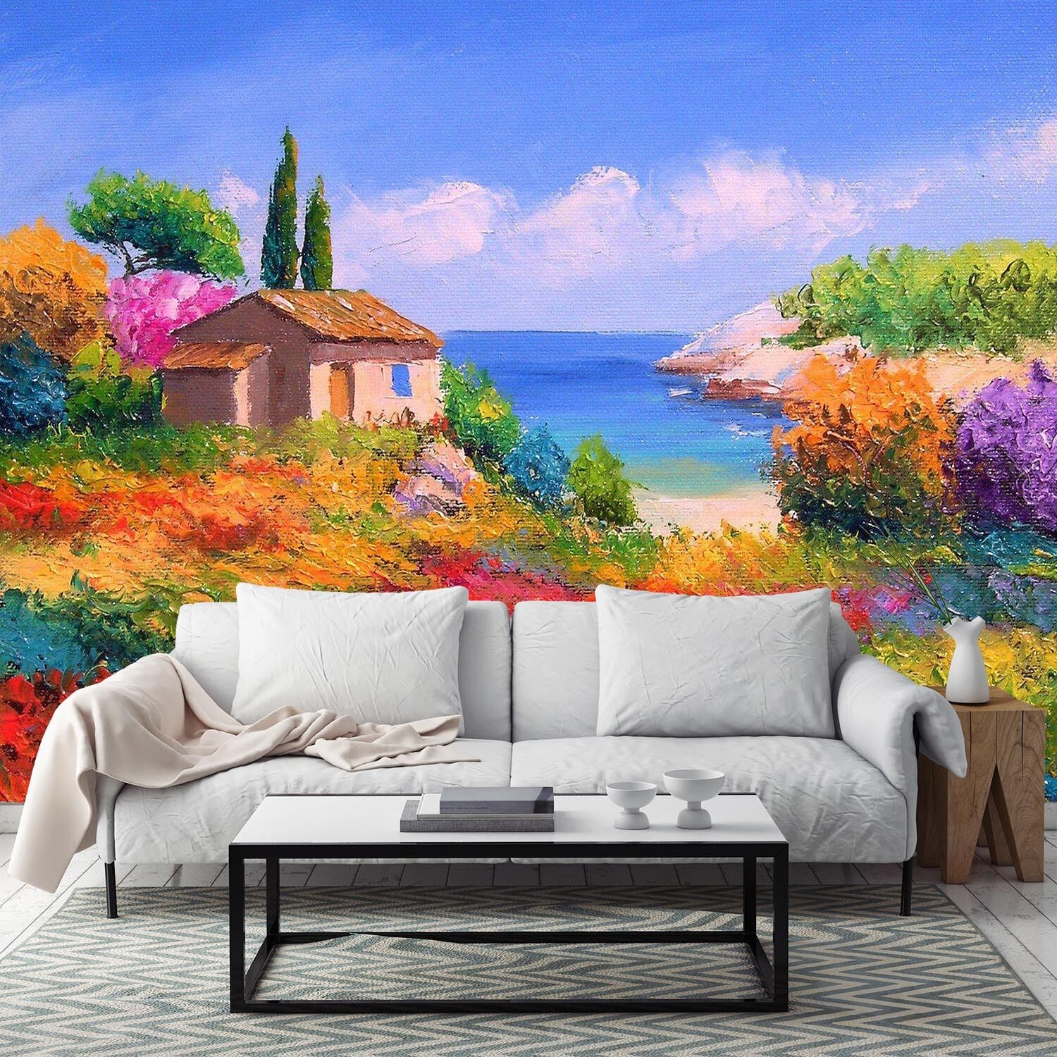 3D color Bed House Painted Wall Paper Wall Print Decal Wall AJ WALLPAPER CA