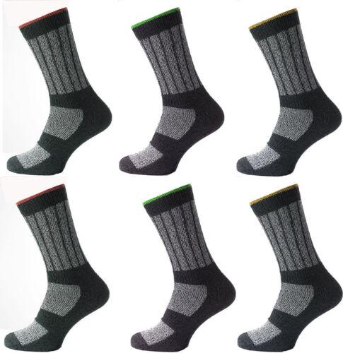 """12 Homme Kato ™ riche coton sécurité industrielle /""""Big Foot/"""" Chaussettes De Travail UK 11-14"""