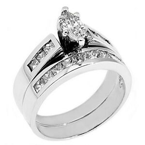 Image Is Loading Womens Platinum Marquise Cut Diamond Engagement Ring Wedding