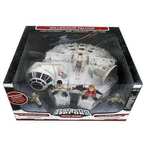 Galactic Heroes  Star Wars Millennium Falcon + 4 Figures Return of Jedi VI NEW