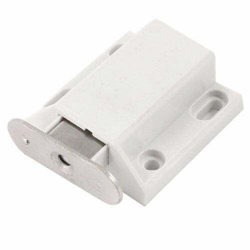 White Push To Open Magnetic Door Drawer Cabinet Catch Touch Latch A5X5