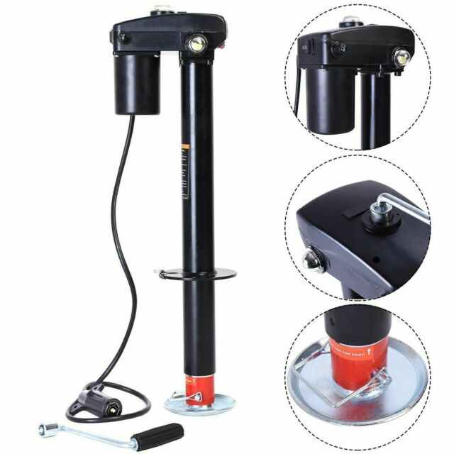 3500 lbs Electric Power Tongue Jack RV Boat Jet Ski Trailer Camper 12V
