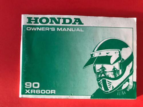 HONDA xr600r 1990 OWNER/'S MANUAL MANUALE DI ISTRUZIONI en
