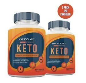 2 Pack Keto GT Pillen Gewichtsverlust Diät gobhb ketogenic ergänzen Männer Frauen