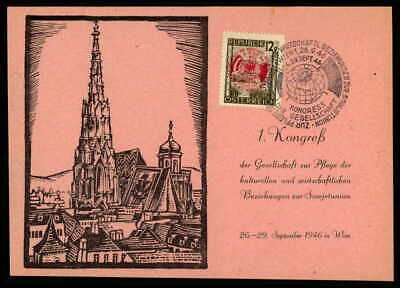 Honig Austria Mk 1946 Wien Kongreß Sowjetunion Maximumkarte Maximum Card Mc Cm Ep06