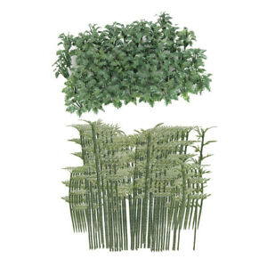 150X Bamboo Tree+Grass Model Toy HO OO for Train Railway Landscape Building