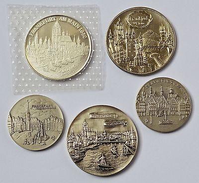 Gehorsam 5 Medaillen Silber Frankfurt Am Main Katharinenkirche Nikolai-kirche Römer Diversifiziert In Der Verpackung