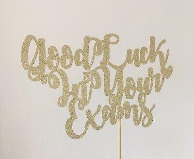 Good Luck In Your Exams Glitter Cake Topper | eBay