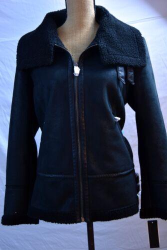 Women's Medium Steve Madden Faux Shearling Aviator Jacket NWT New