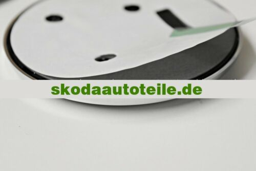 glänzend 2X NEU SKODA Superb I 3U Emblem Logo BLACK GLOSS vorne + hinten