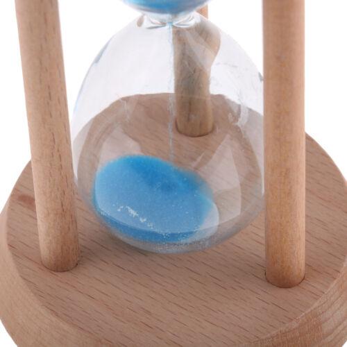 30 Minutes Wooden Frame Sand Egg Timer Hourglass Kitchen Cooking Timer Blue