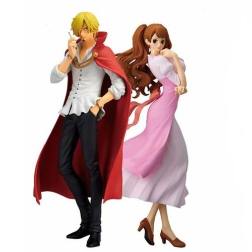 One Piece Vinsmoke Sanji And Pudding PVC Anime Figure Collection Toy New In Box