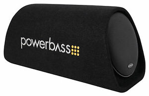 """POWERBASS BTA8 8"""" 150w Powered Loaded Subwoofer Bass Tube Sub Enclosure System"""