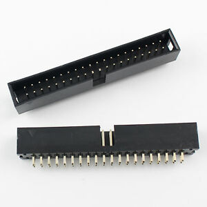 10Pcs-2-54mm-2x20-Pin-40-Pin-Straight-Male-Shrouded-PCB-Box-header-IDC-Socket