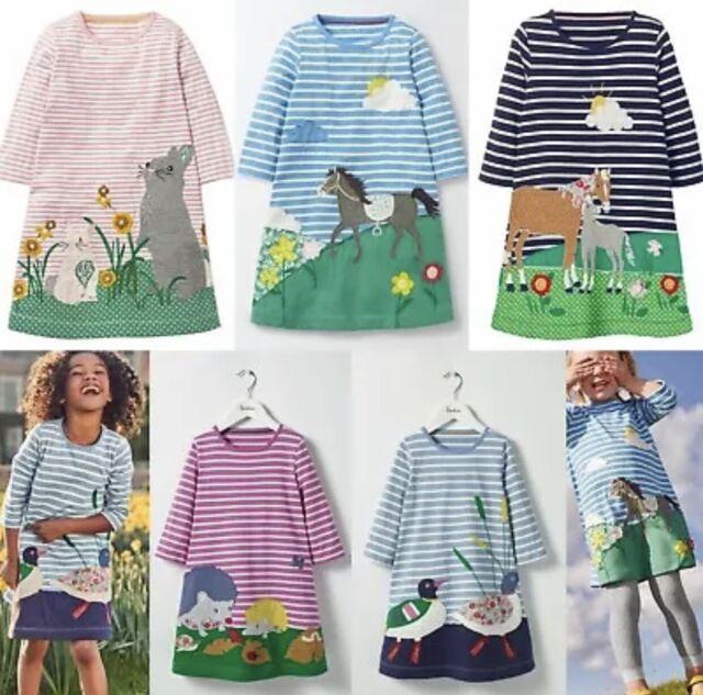 Mini Boden Dress Tunic Applique Horse Forest Friends Age 2 3 4 5 6 7 8 9 10