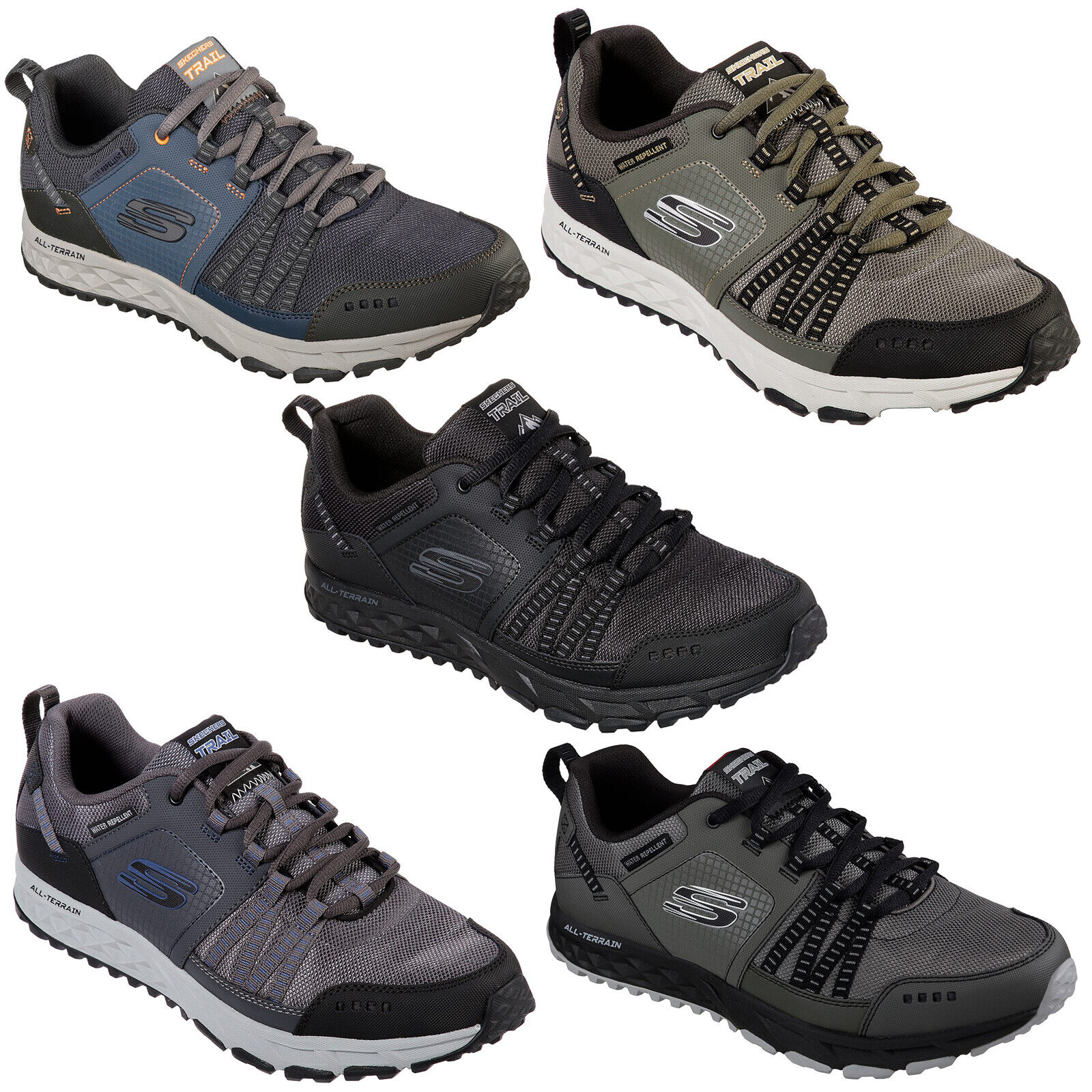 Skechers Escape Plan shoes Mens Memory Foam Hiking Trail Walking Trainers 51591