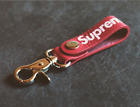 SUPREME Key Chain Red leather Key Holder Car key chain Free shipping