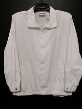 Napa Valley Womens Jacket Size 1X White Coat Zip Up Front with Long Sleeves