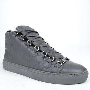 $650 Balenciaga Men's Dark Gray Leather