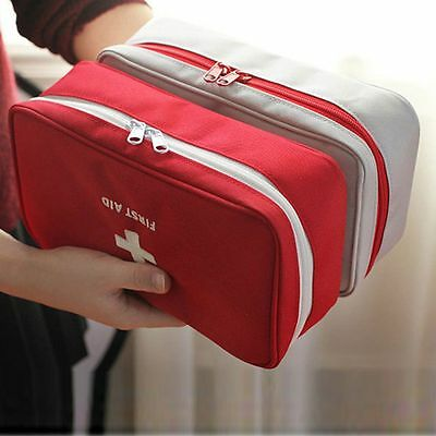New Travel First Aid Kit Bag Home Emergency Medical Case Survival Rescue Box