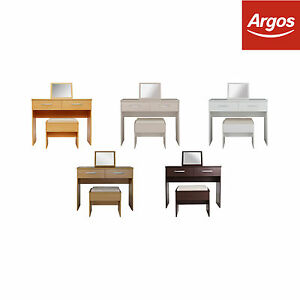 the latest eadf9 c7c1d Details about The Collection at Argos Hallingford Dressing Table, Stool &  Mirror-Colour Choice