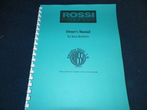 24 PAGES ROSSI  REVOLVERS OWNERS MANUAL