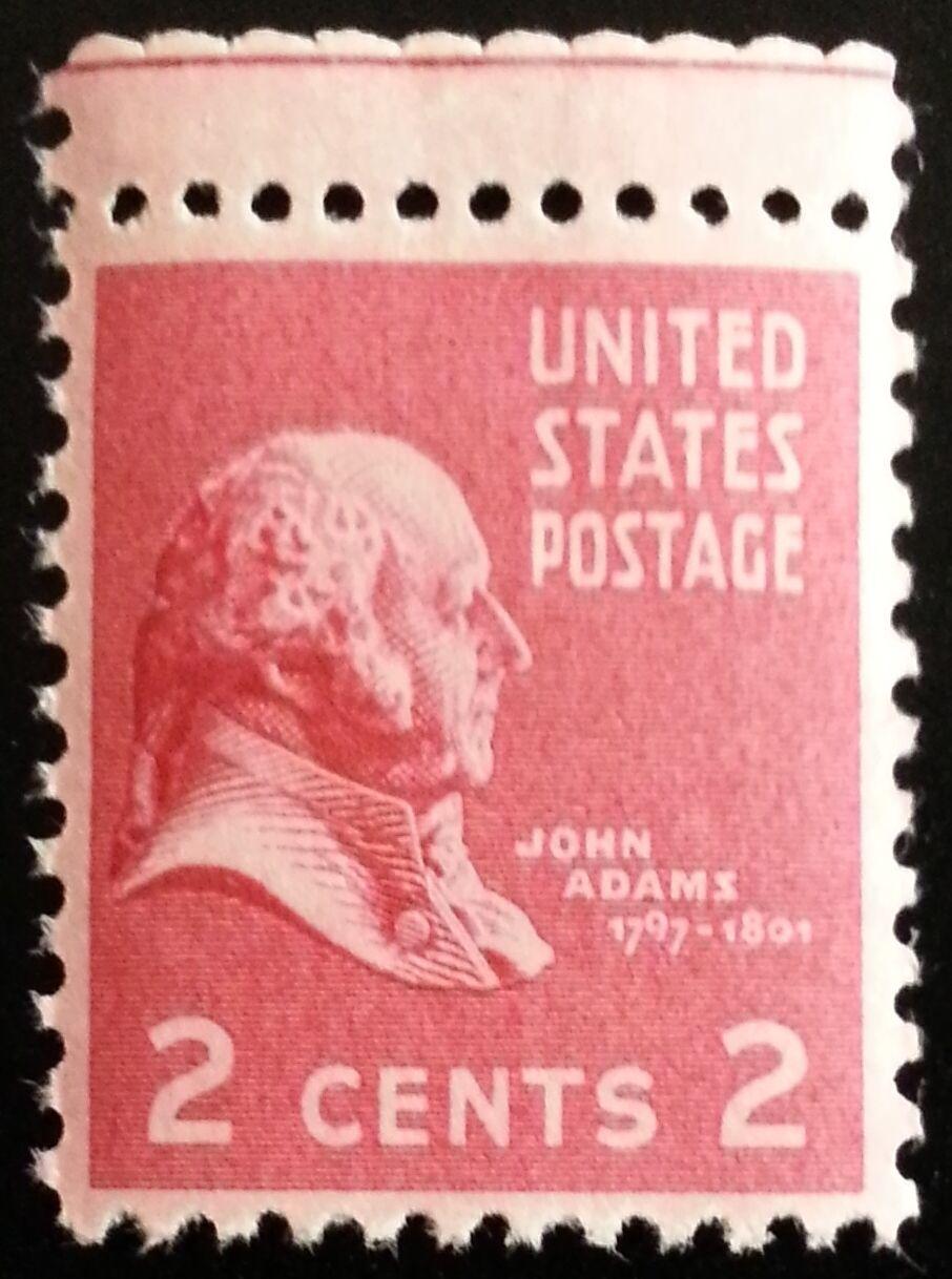1938 2c John Adams, 2nd President Scott 806 Mint F/VF N