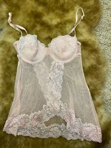 Gina-Benotti-padded-underwired-Camisole-Top-sleepwear-nightwear-size-us34A-eu75A