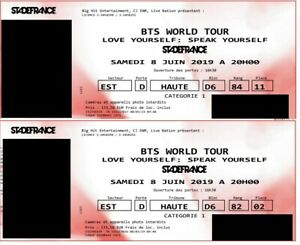 2-x-1-Ticket-BTS-World-Tour-Speak-Yourself-Paris-08-06-2019-Stade-de-France-CAT1