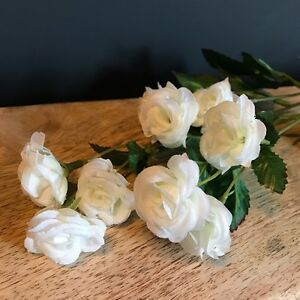 Stem of white artificial mini rose buds silk flowers realistic image is loading stem of white artificial mini rose buds silk mightylinksfo