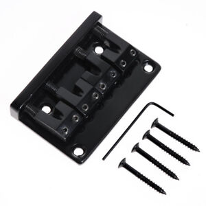 Kmise-4-String-Bass-Bridge-Guitar-Part-L-Shape-Saddle-Black