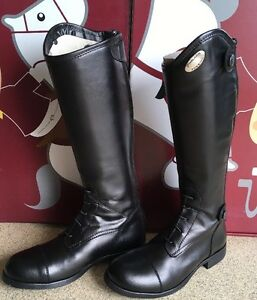 Parlanti-Miamy-Kids-Children-039-s-34M-Long-Leather-Riding-Boots-Brand-New-Animo