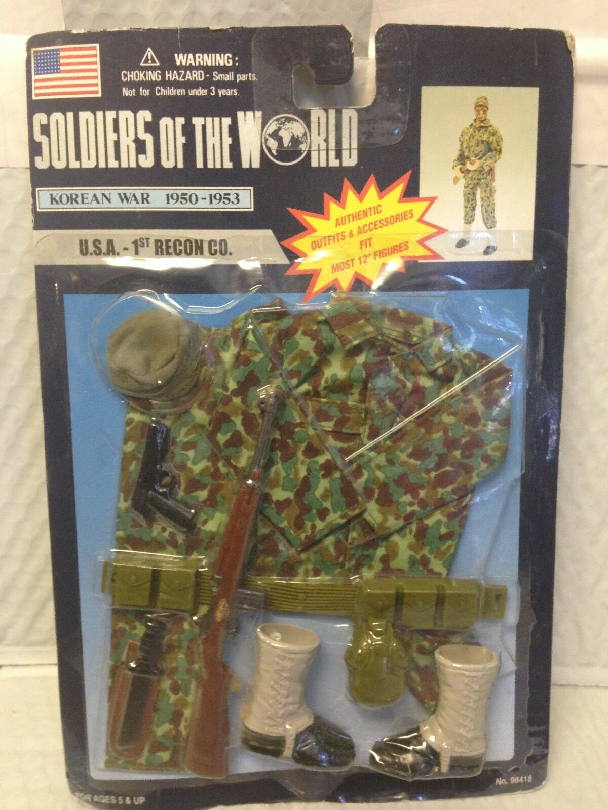 SOLDIER OF THE WORLD MILITARY - Gear - Korean War - USA 1st Recon Co.1950-53NEW