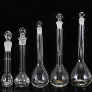 5-10-25-50-100-250ML-Clear-Glass-Volumetric-Flask-With-Stopper-Lab-Glassware
