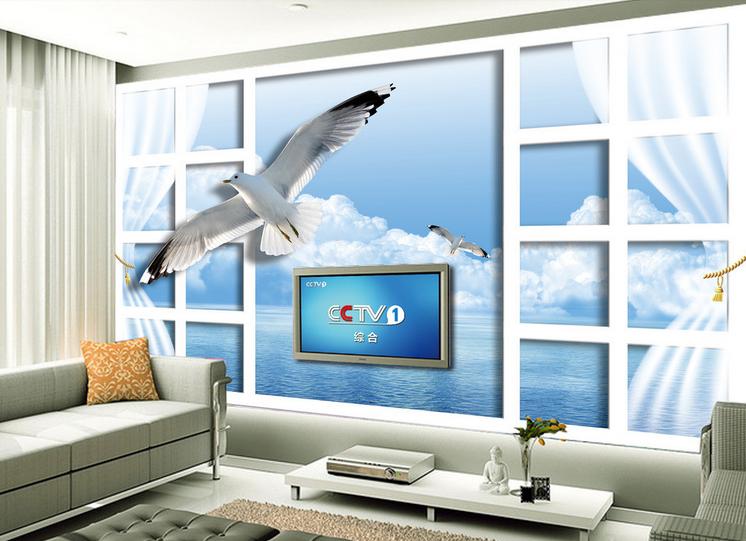 3D Weiß Seagull 52 Wallpaper Murals Wall Print Wallpaper Mural AJ WALL AU Lemon